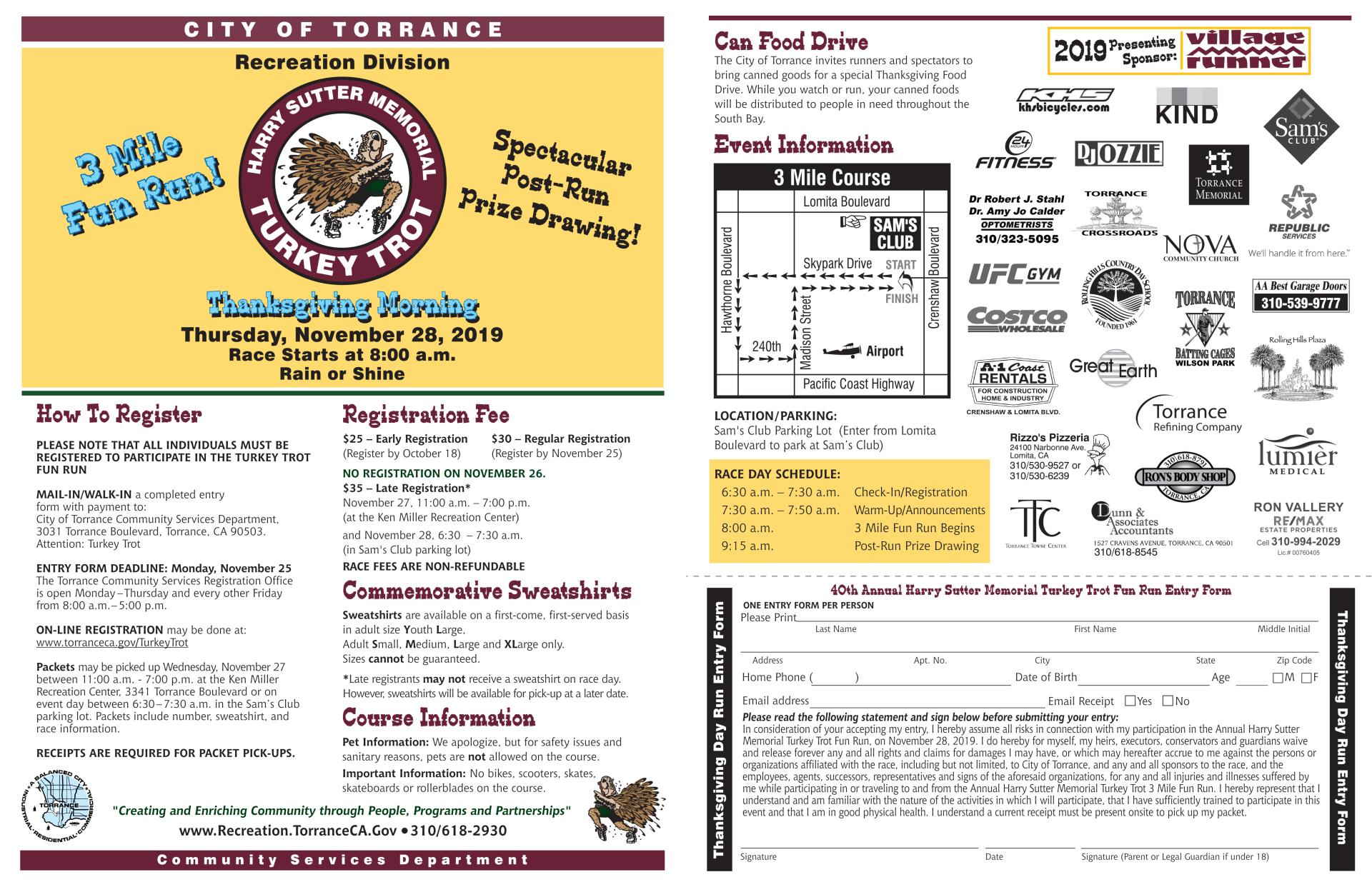 37176 Turkey Trot Electronic Flyer 2019 Pages 1&2