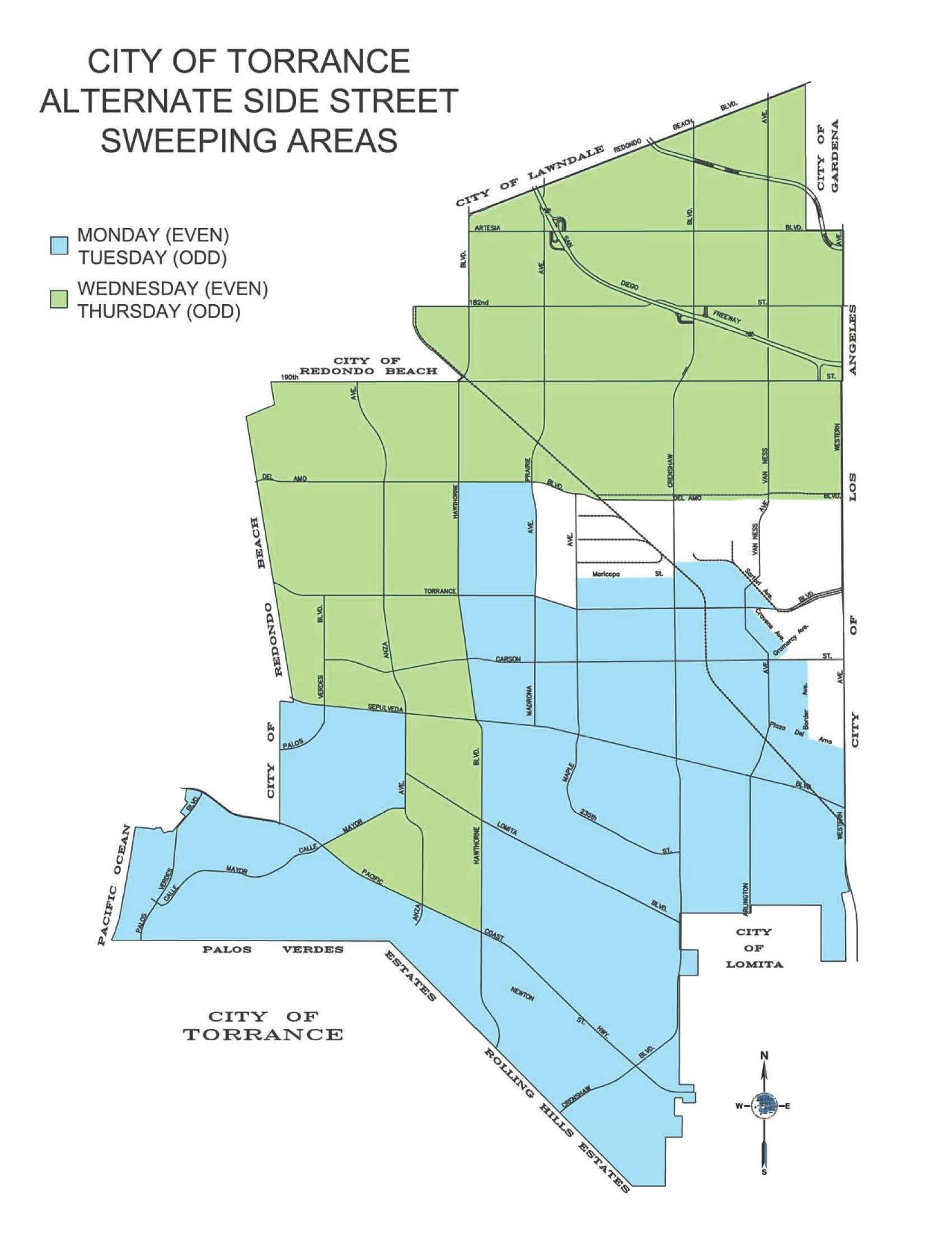 sweeping map . hot topics  city of torrance