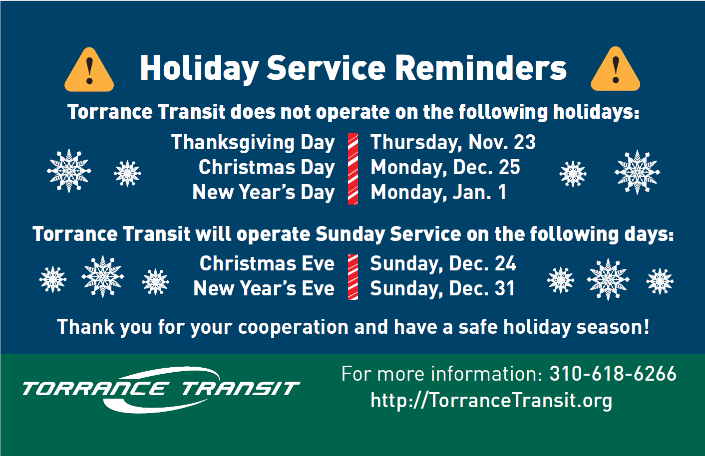 City of torrance home holiday service schedule sciox Images