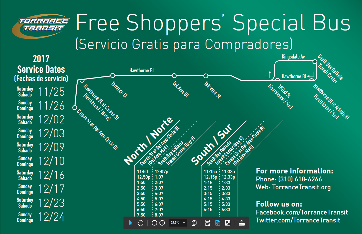 Shoppers' Special Service