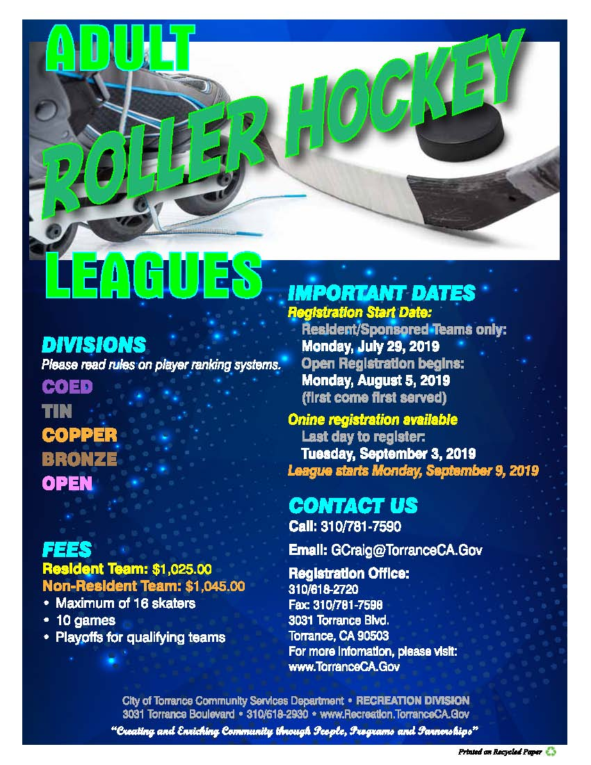 FLYER - FALL - ROLLER HOCKEY LEAGUES