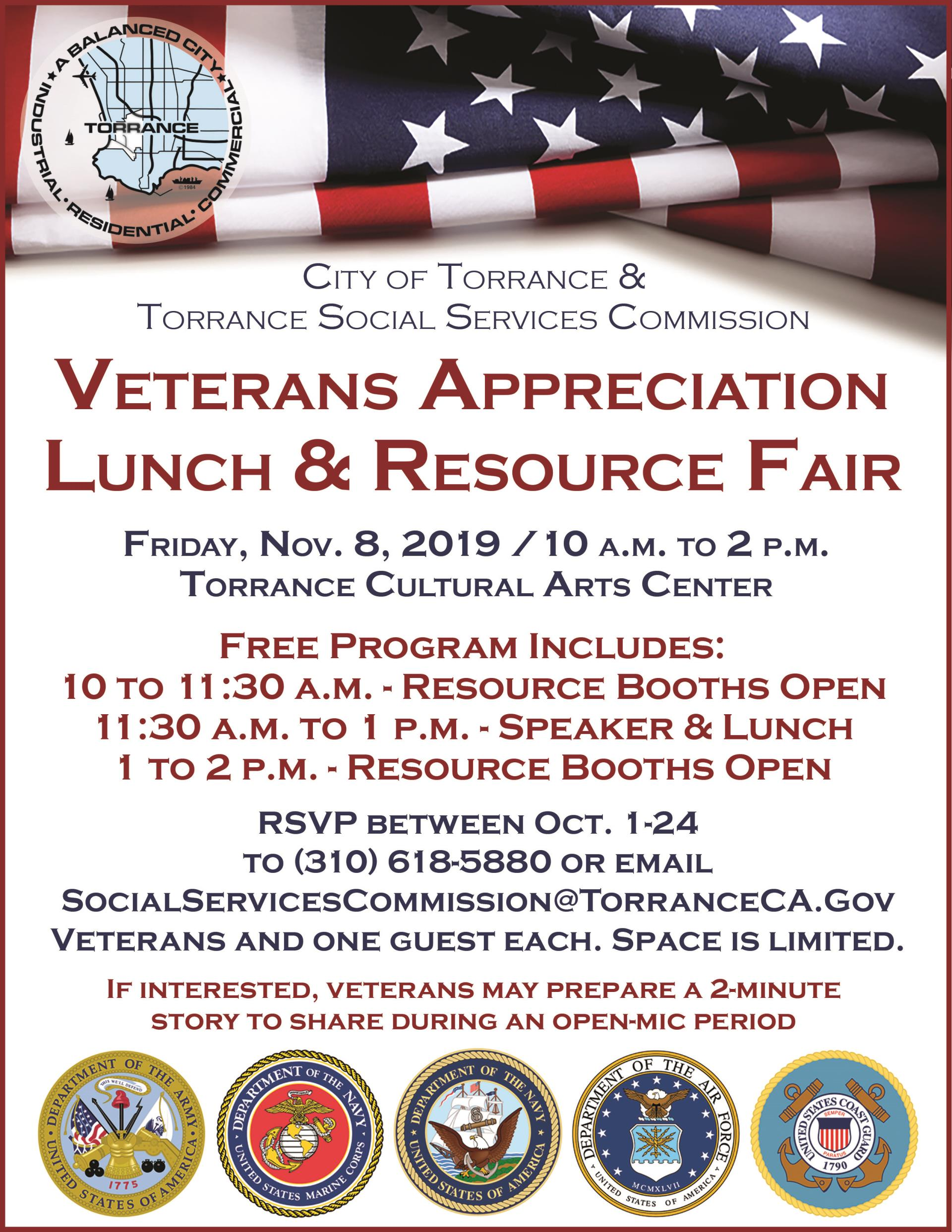 2019 Veterans Event Flyer