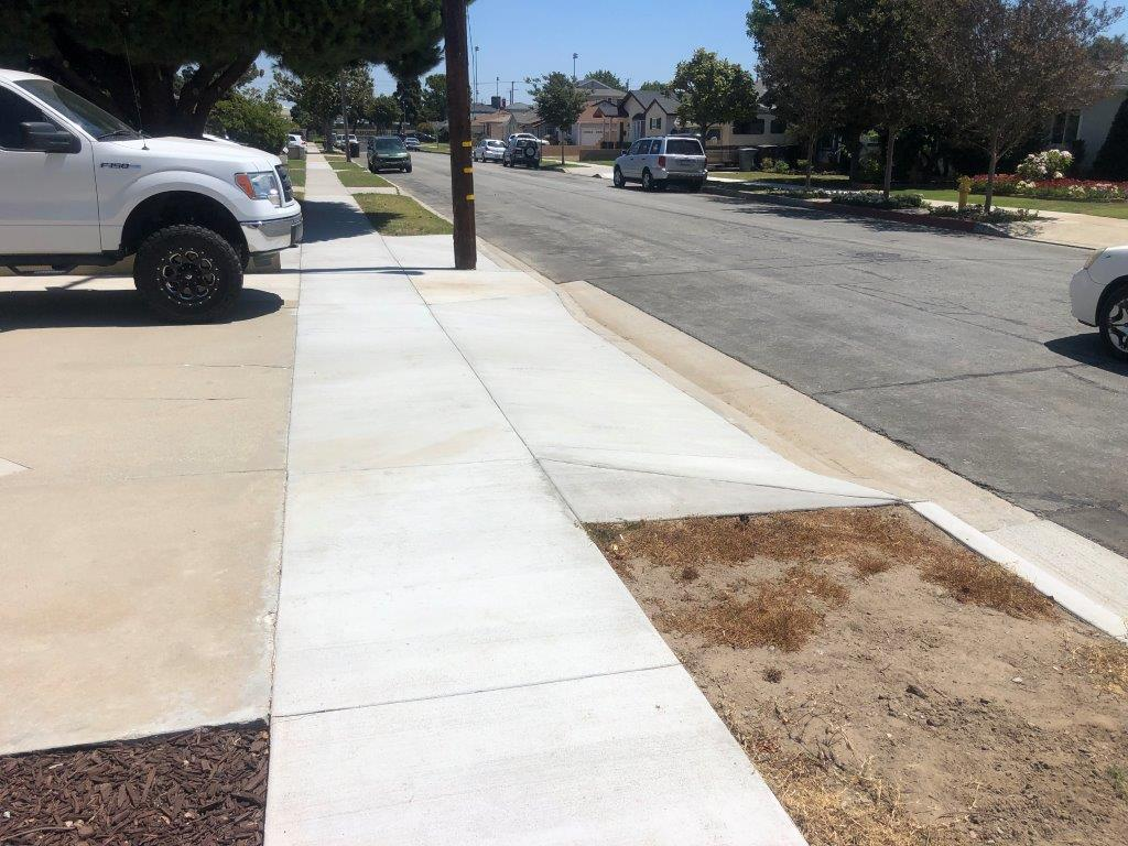 repaired Sidewalk