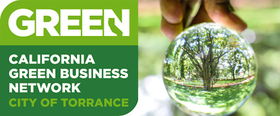 Green California logo with Glass Ball