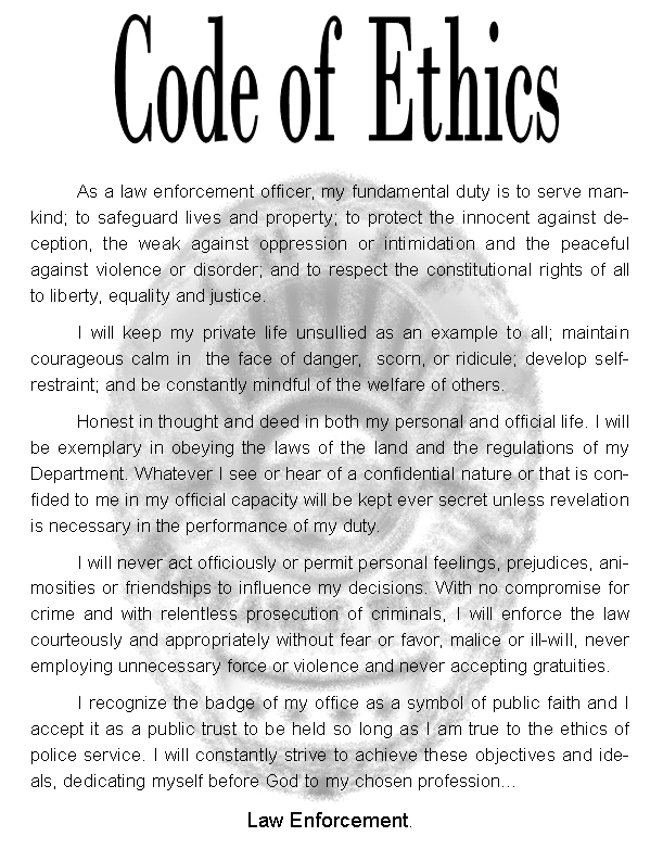 graphic regarding 4-h Pledge Printable identified as Code Of Ethics Town of Torrance