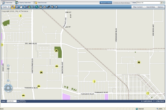 Crime Map | City of Torrance on