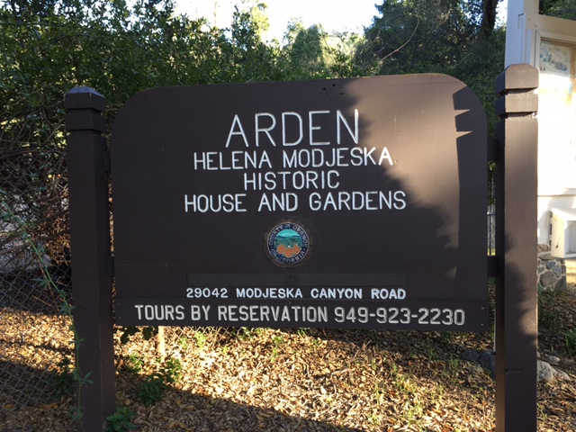Helena Modjeska House and Gardens sign