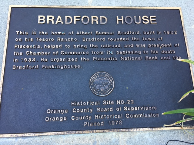 Bradford House Plaque