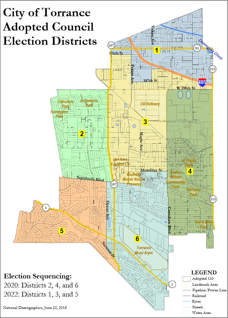 City Council Districts City Of Torrance